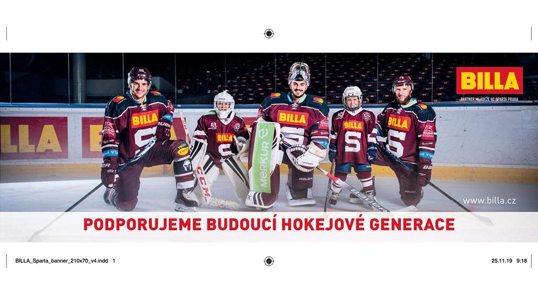BILLA Sparta Podpora budoucích hokejových generací